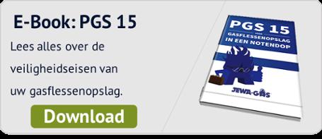 Voldoe aan de laatste veiligheidsnormen: PGS-15 voor gasflessenopslag in een notendop. Download het gratis eBook.