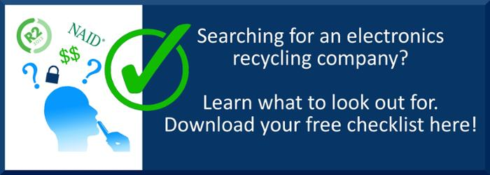 Electronics Recycling Company Checklist CTA