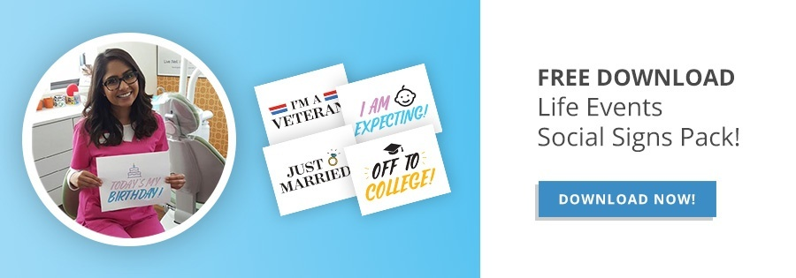 Free Life Events Social Sign Pack
