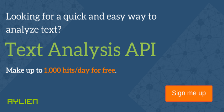Text Analysis API - Sign up