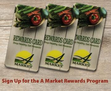 Sign up for A Market's Rewards Program
