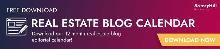 FREE 24 Month Real Estate Blogging Calendar!