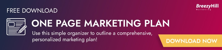 Download our free one page marketing plan!