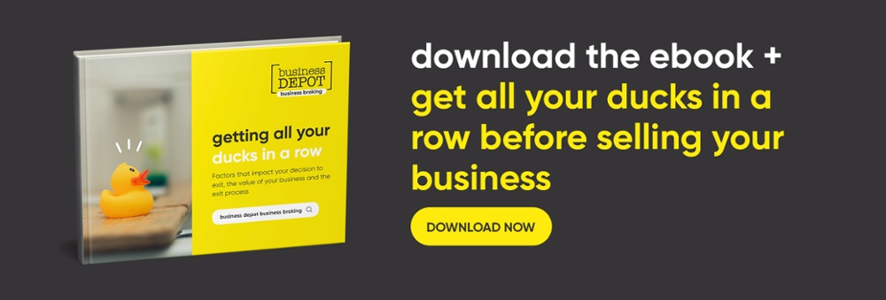 Get all your ducks in a row before selling your business ebook