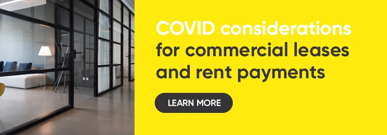 COVID considerations for commercial leases and rent payments