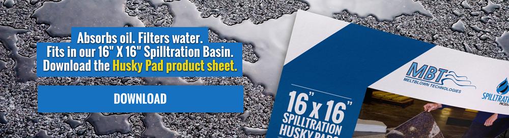 """16"""" X 16"""" spilltration husky pads"""