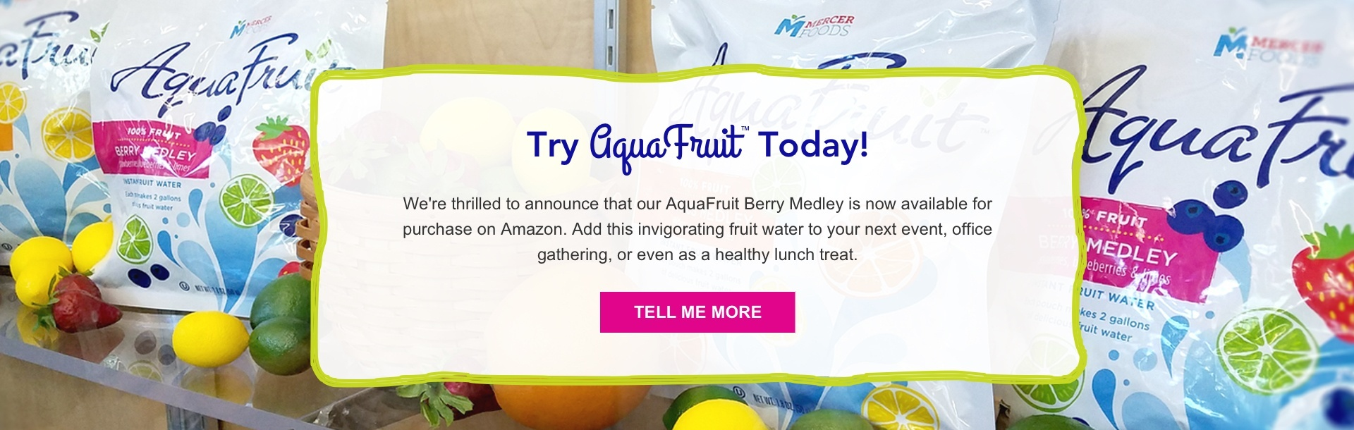 Get AquaFruit Infused Fruit Water Berry Medley on Amazon Today!