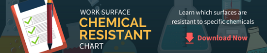 work surface chemical resistant chart