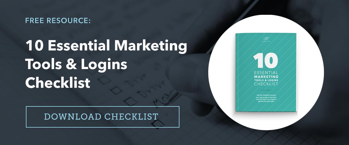 10 Essential Marketing Tools and Logins Checklist