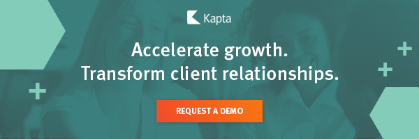 Accelerate growth transform client relationships CTA banner with request a demo button