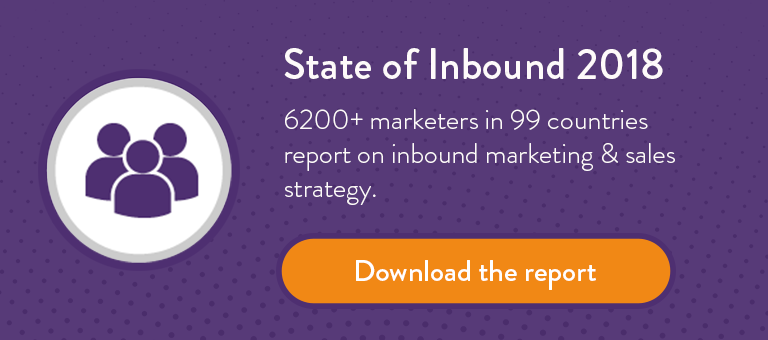 The state of inbound marketing in 2018 report by HubSpot