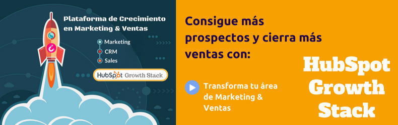 HubSpot Growth Stack- área Marketing & Ventas
