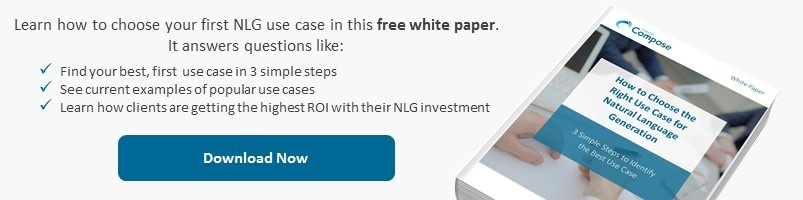 Choose First NLG Use Case with this White Paper