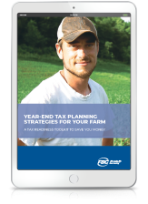 Year End Tax Planning Toolkit Farm iPad Cover