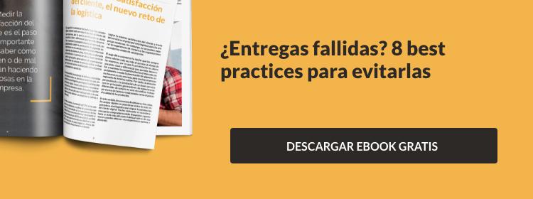 "Descarga tu Ebook gratis ""¿Entregas fallidas? 8 best practices para evitarlas"""