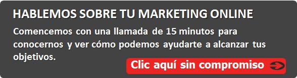 Hablemos sobre tu marketing online