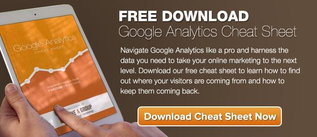 google analytics cheat sheet