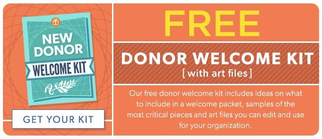 new donor welcome kit