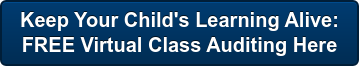 Keep Your Child's Learning Alive:  FREE Virtual Class Auditing Here