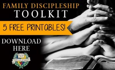 Family Discipleship Bible Hands CTA
