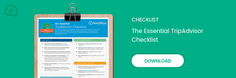 Download — The essential TripAdvisor checklist