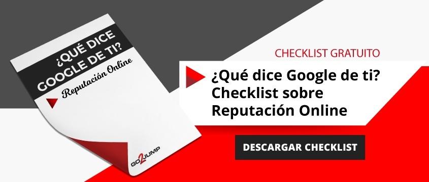 Qué dice Google de ti - Checklist crisis reputación