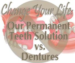 Get rid of your dentures and get all on 4 dental implants