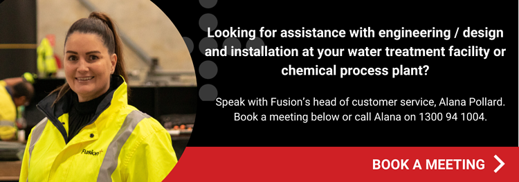 Book a meeting for assistance with engineering / design and installation at your water treatment facility or chemical processing plant.