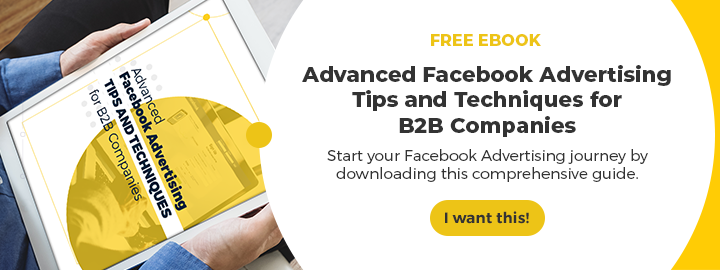 Facebook Advertising for B2B CTA 1