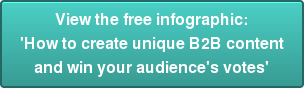 View the free infographic:  'How to create unique B2B content and win your audience's votes'