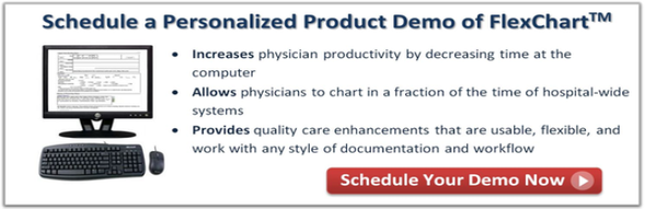 schedule a demo for ED charting software FlexChart