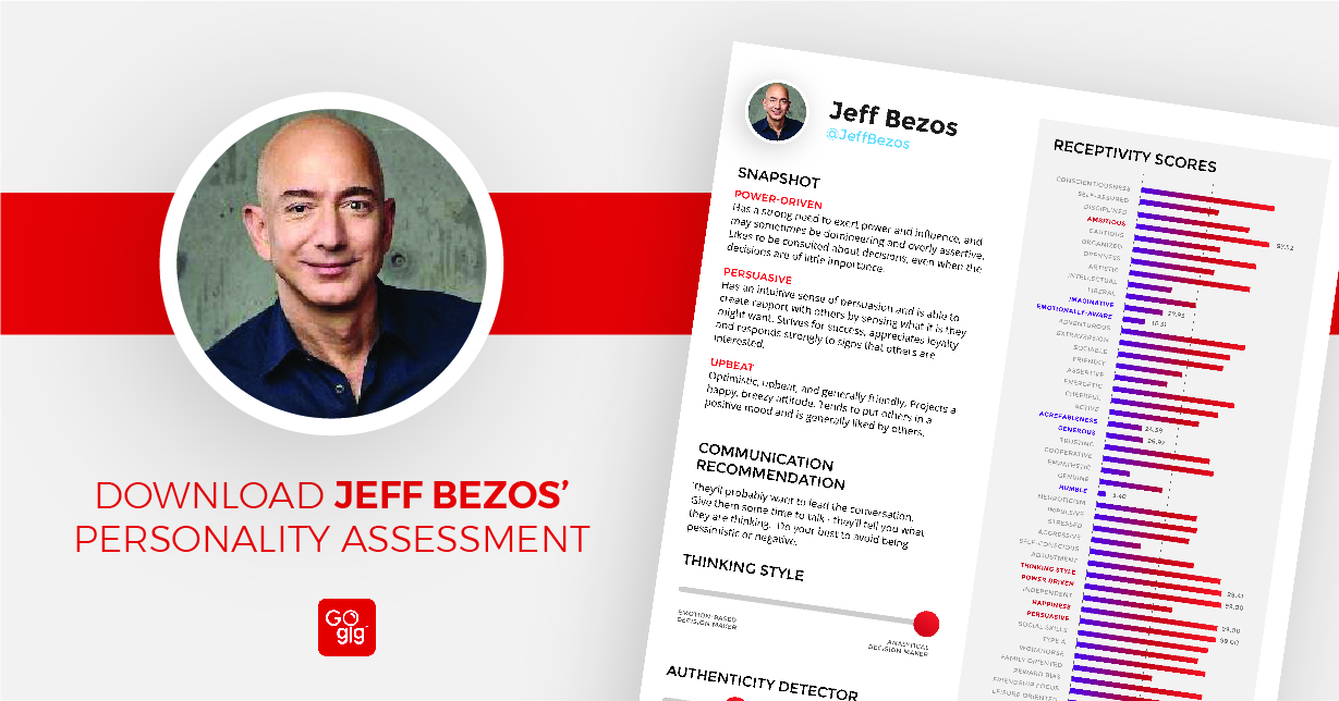 Click For The Jeff Bezos GoGig Personality Profile
