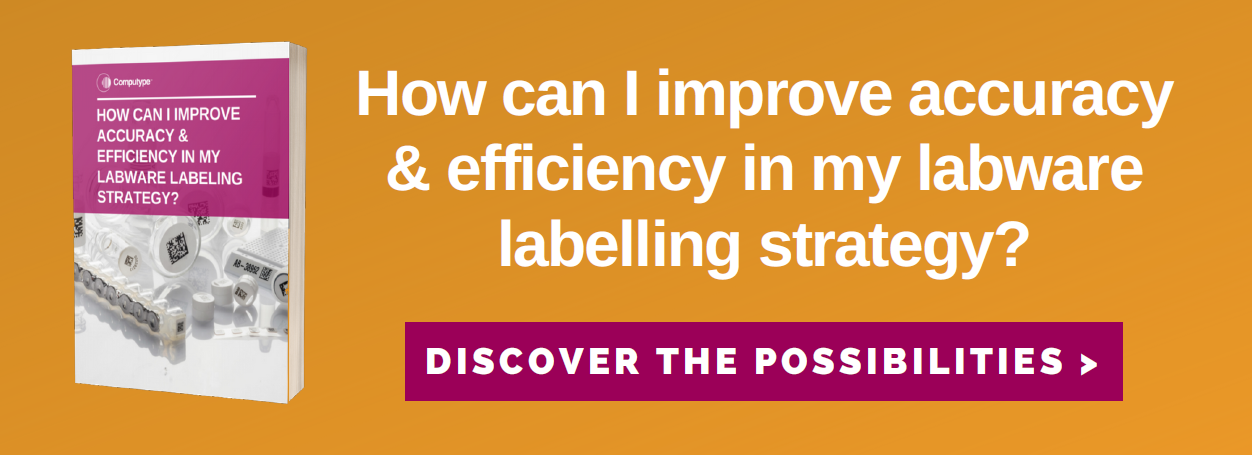 How can I improve accuracy & efficiency in my labware labelling strategy?