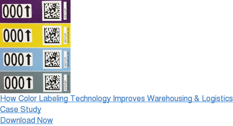 How Color Labeling Technology Improves Warehousing & Logistics  Case Study  Download Now