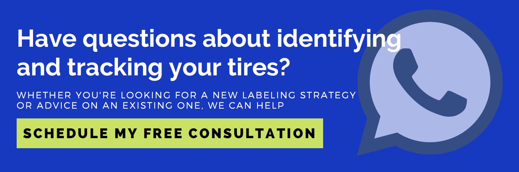 Have questions about identifying and tracking your tires? Schedule my free consultation
