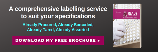 A comprehensive labelling service to suit your specifications. Download the READY Labware Services Brochure