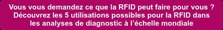 Vous vous demandez ce que la RFID peut faire pour vous ?  Découvrez les 5 utilisations possibles pour la RFID dans   les analyses de diagnostic à l'échelle mondiale
