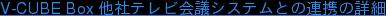 V-CUBE Box 他社テレビ会議システムとの連携の詳細