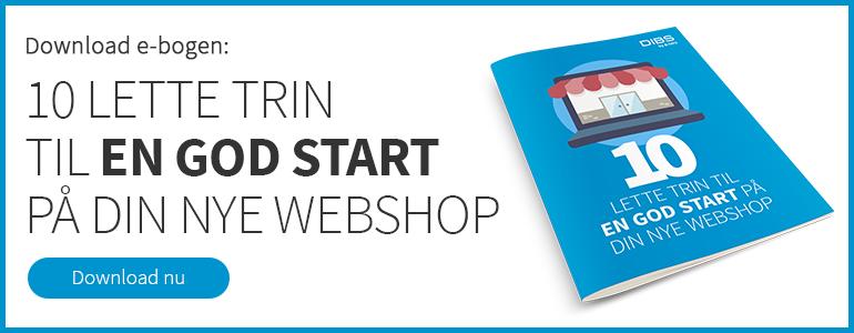 Download e-bogen: 10 trin til en god start på din webshop