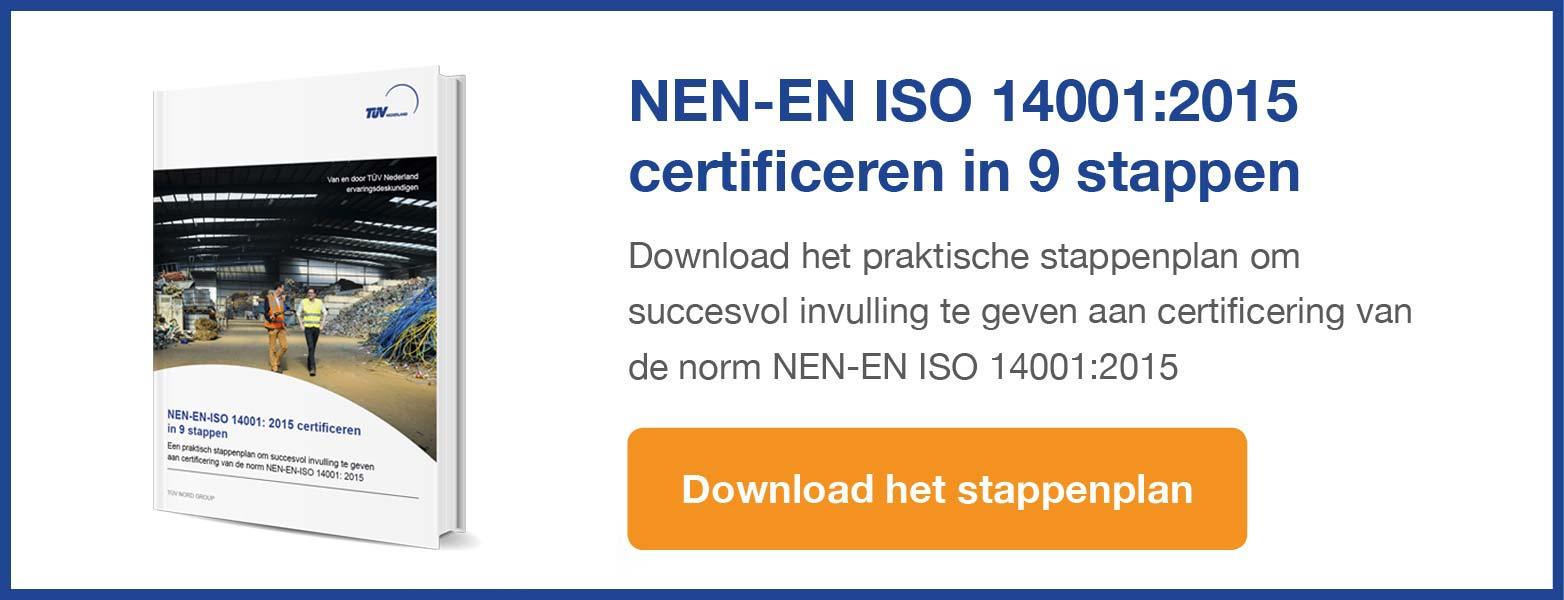ISO 14001 certificatie stappenplan