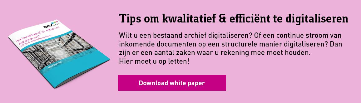 white paper Hoe digitaliseren