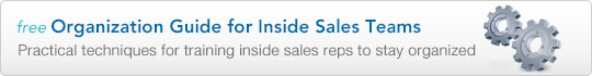 Organization Guide for Inside Sales Teams