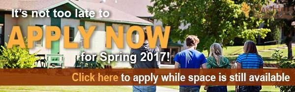Apply for Spring 2017!