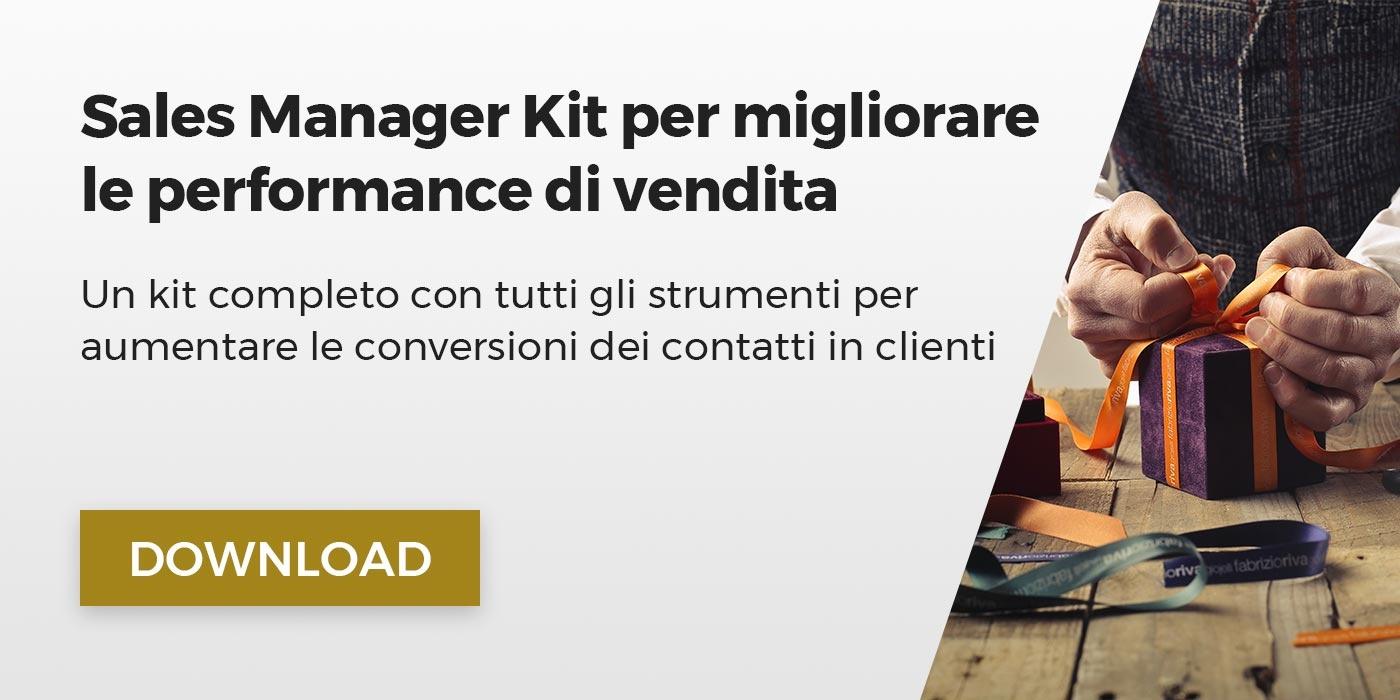 Sales Manager Kit per migliorare le performance di vendita