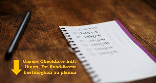 Checkliste Food Event