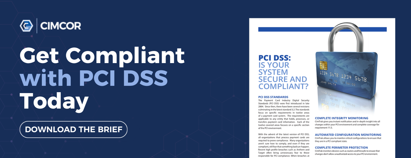 Get the free solution brief and get compliant with PCI DSS today.