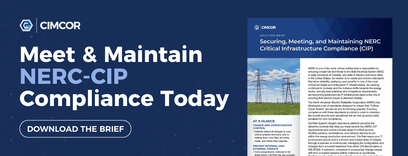 Meet & maintain your NERC-CIP compliance today.