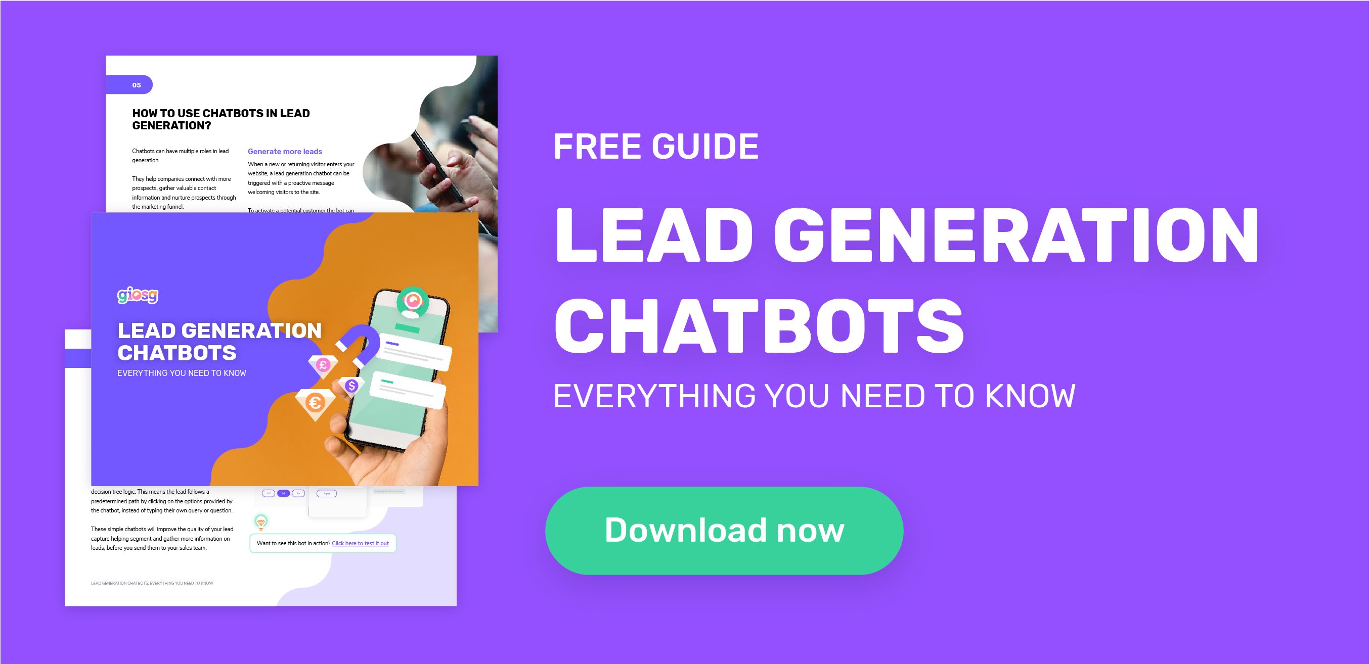 Click to read a guide on lead generation chatbots