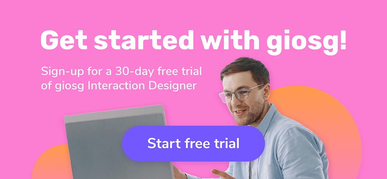 Start 30-day free trial with giosg
