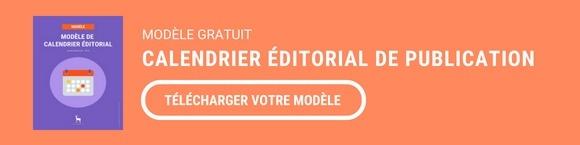 CTA Intermédiaire : Télécharger un modèle de calendrier éditorial du publication